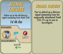FoS Signal Failure card