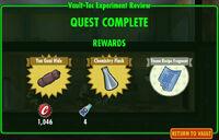 FoS Vault-Tec Experiment Review B rewards
