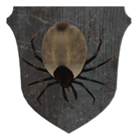 Mounted tick