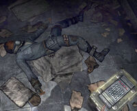 FO3 Dead Theo and Ammunition Box