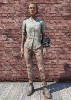 FO76 Green Shirt and Combat Boots.png