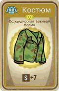 FoS card Командирская военная форма