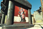 FO4NW Nuka Girl poster bus stop