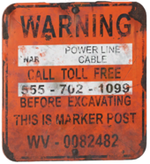 FO76 NAR power line cable sign