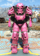 T-60 power armor Slocum's Joe pink paint