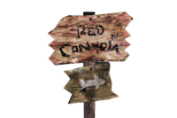 FNV Red Canyon arrow sign