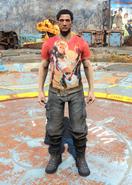 Nuka-Cola t-shirt & cargo pants male