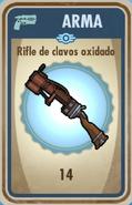 FOS Rifle de clavos oxidado carta