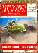 Hot rodder shark cover