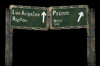 FNV Primm roadsign render