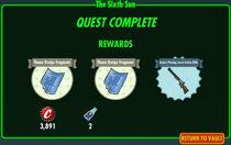 FoS The Sixth Sun rewards