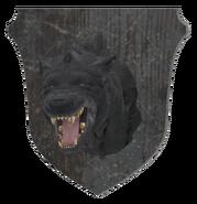 Mounted wolf head