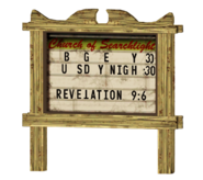 FNV Searchlight church sign