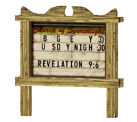 FNV Searchlight church sign