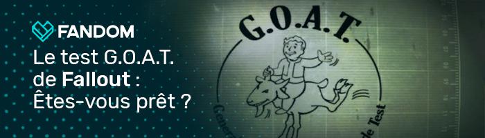 Hypsoline/Le test G.O.A.T. de Fallout : êtes-vous prêt pour les Terres Désolées