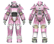FO4 T-45 power armor hot rod pink