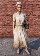 FO76 Asylum Worker Uniform Weathered Full Female
