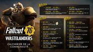 FO76 Wastelanders calendrier de la communauté