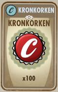 Karte Kronkorken x100