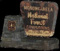FO76 Monongahela front sign