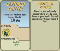 FoS Captured Critter card