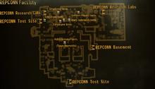 REPCONN test site facility map