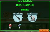 FoS Dibs at the Red Rocket - rewards