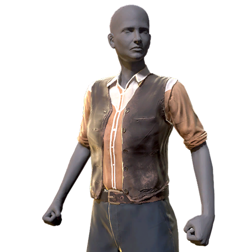 Orange shirt Western outfit (Fallout 76)