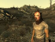 FO3 Bug wastehound helmet and hockey mask after stealth armor
