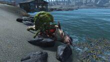 FO4Sea creature being eaten