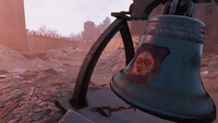 FO76 081120 WV bell defaced by vandals