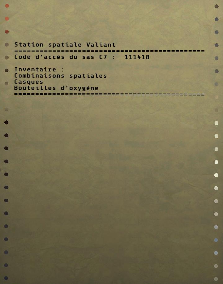 Inventaire du SAS C7