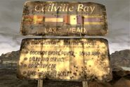 FNV Callville Bay sign front