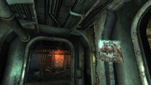 FO3 Rivet City Common room Mirelurk keep out