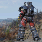 Atx skin powerarmor paint excavator blueandred c2