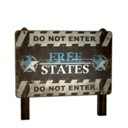 ATX camp sign free states large 2