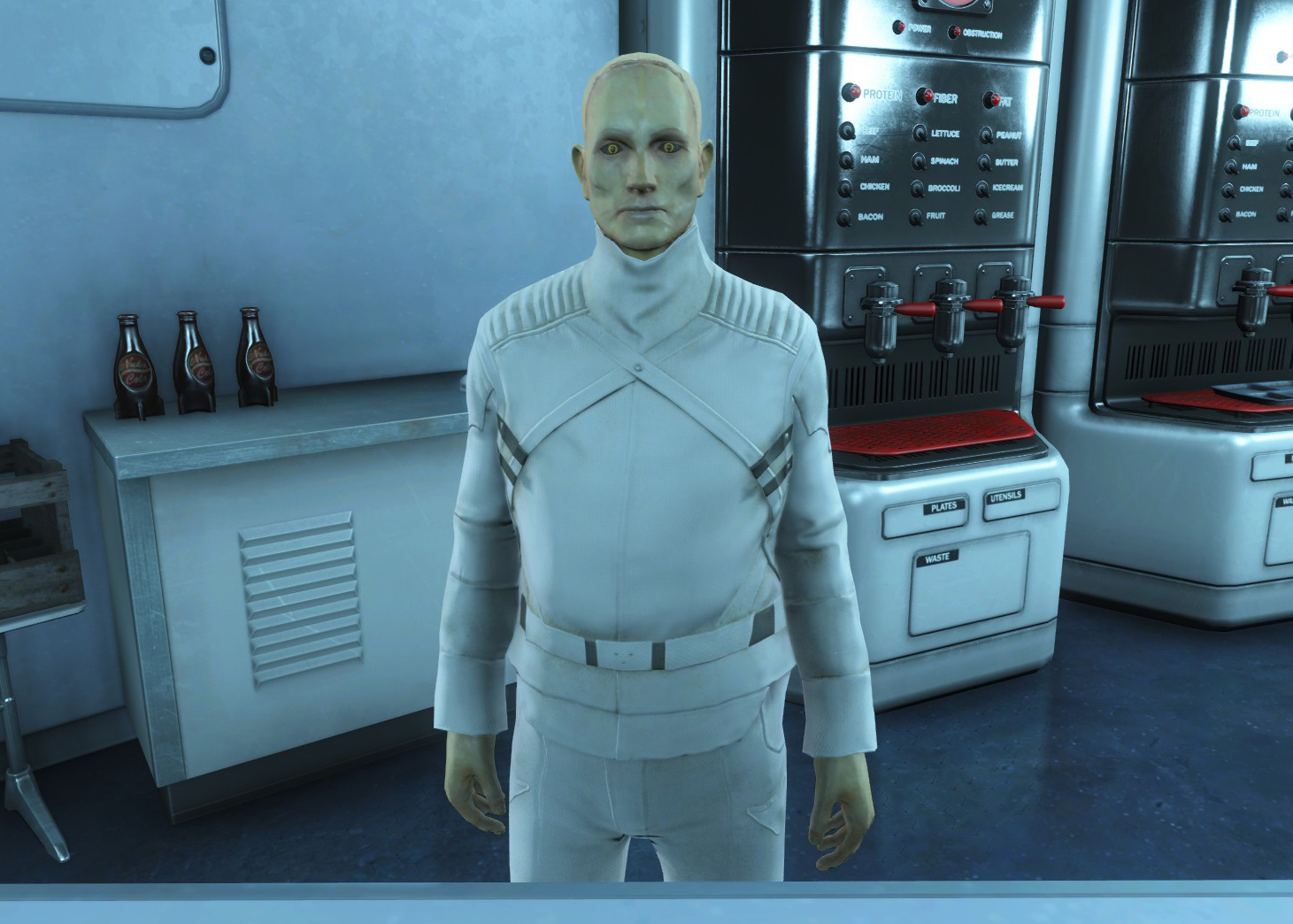 Synth cafeteria worker