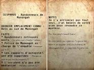 FO76 Non résolue Randonneurs disparus (gare)