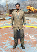 Fo4Patched Three-Piece Suit male