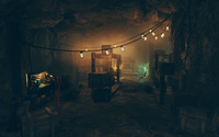 FO76 secluded cave interior
