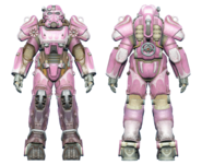 FO4 T-60 power armor hot rod pink