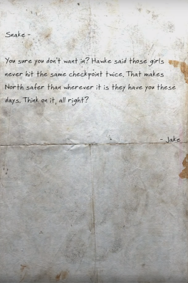 Jake's note