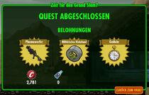 FOS - Quest - Zeit für den Grand Slam - Belohnungen