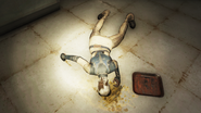 Enclave Corpse in kitchen