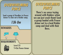 FoS Overwhelming Force card