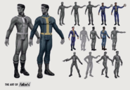 Jumpsuit designs The Art of Fallout 4