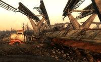 Ruined truck Corvega factory