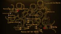 Puesta del Sol North map
