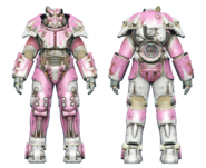 FO4 X-01 power armor hot rod pink