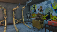 Power armor frame Atom Cats garage